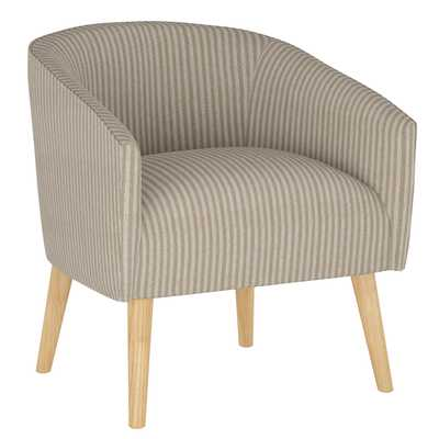 Printer's Row Chair in Scout Stripe Taupe - Third & Vine