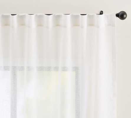 """Emery Rod Pocket Sheer Curtain, 50 x 96"""", White - Pottery Barn"""