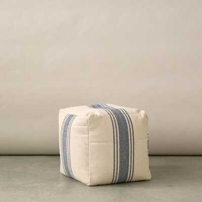 Yukon Canvas Pouf - Birch Lane