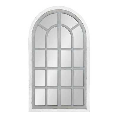 Kate and Laurel Boldmere Arch White/Gray Wall Mirror - Home Depot