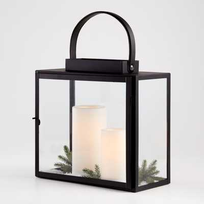 Sonnet Hurricane Lantern with Handle - Crate and Barrel