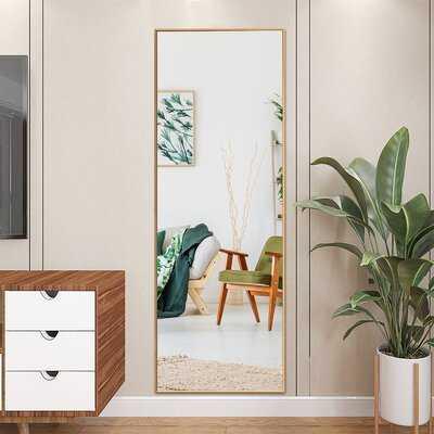 Latitude Run® 59''full Length Body Mirror Aluminum Frame Leaning Hanging Dressing Mirror Gold - Wayfair