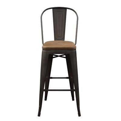 Bar Stool Metal Chair Set Of 2 - Wayfair