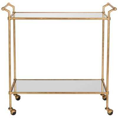 Bar Cart Metal/Gold - Safavieh - Target
