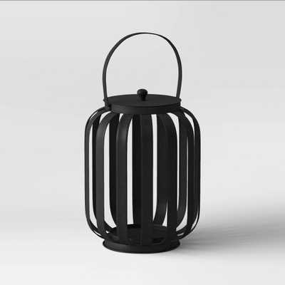 """12"""" Small Metal Strip Outdoor Lantern Black - Project 62 , Size: 12"""" - Target"""