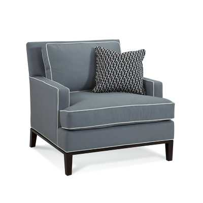 Braxton Culler Andrews Armchair Upholstery: Beige Stripe; 0258-71, Finish: Vintage - Wood - Perigold