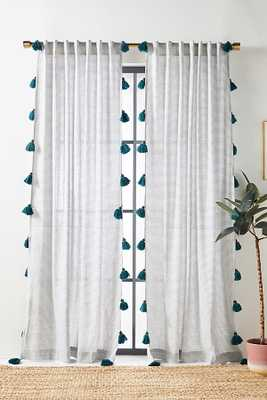 """Mindra Curtain By Anthropologie in White Size 50"""" X 96"""" - Anthropologie"""