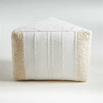 Ilisi Triangle Pouf - Crate and Barrel