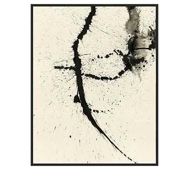 "Ink Spray 1 Framed Canvas, 26"" x 33"" - Pottery Barn"