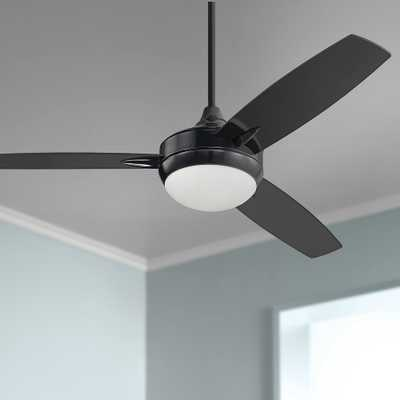 """52"""" Craftmade Targas Gloss Black LED Ceiling Fan - Style # 81N73 - Lamps Plus"""