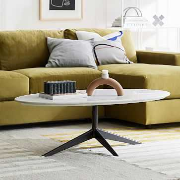 Marlow Oval Coffee Table, Marble - West Elm