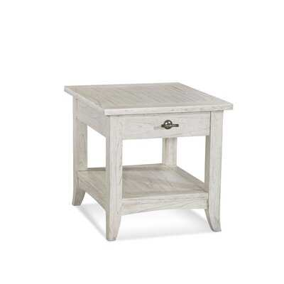 Fairwind Solid Wood End Table with Storage - Birch Lane