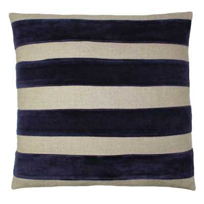 Tourmaline Home Oporto Throw Pillow Color: Dark Natural/Navy - Perigold
