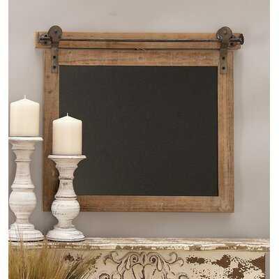 Wood/Metal Wall Mounted Chalkboard - Birch Lane