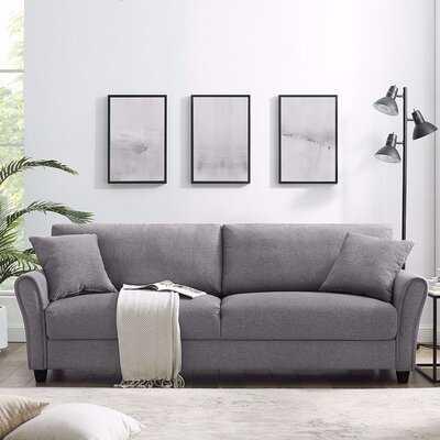"""Amarri 85.43"""" Round Arm Sofa - Wayfair"""