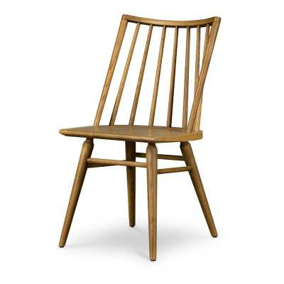 Four Hands Solid Wood Windsor Back Side Chair in Sandy Oak - Perigold
