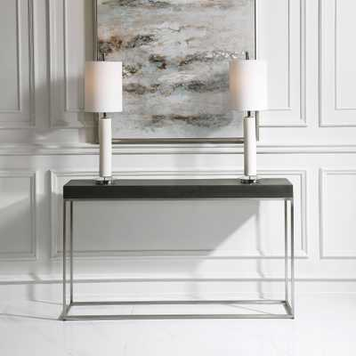 Jase Black Concrete Console Table - Hudsonhill Foundry