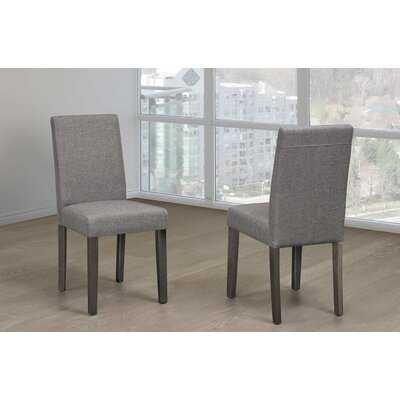 McCoole Linen Upholstered Parsons Chair in Gray - Wayfair