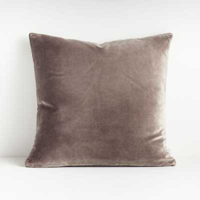 "Regis Grey 20"" Velvet Pillow - Crate and Barrel"