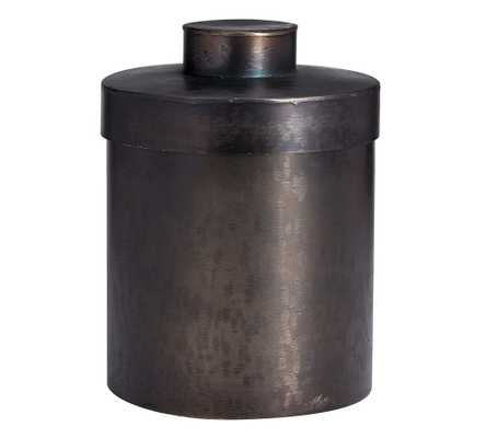 Odin Accessories, Large Canister, Antique Black - Pottery Barn