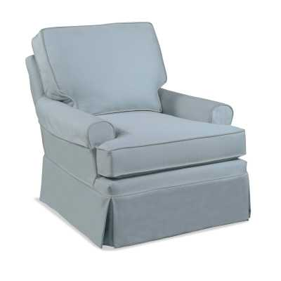 Braxton Culler Belmont Armchair Upholstery: White Stripe - Perigold