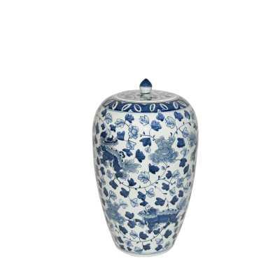 """Legend of Asia Blue/White 15"""" Indoor / Outdoor Porcelain Ginger Jar - Perigold"""