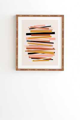"Linear Stack by Gale Switzer - Framed Wall Art Bamboo 11"" x 13"" - Wander Print Co."