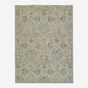 Printed Canopy Rug, Frost Gray, 6'x9' - West Elm