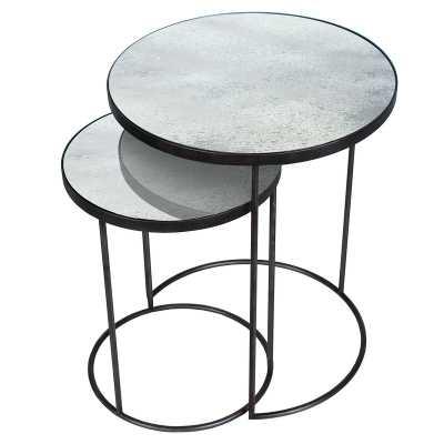 Notre Monde 2 Piece Nesting Tables Table Top Color: Clear - Perigold