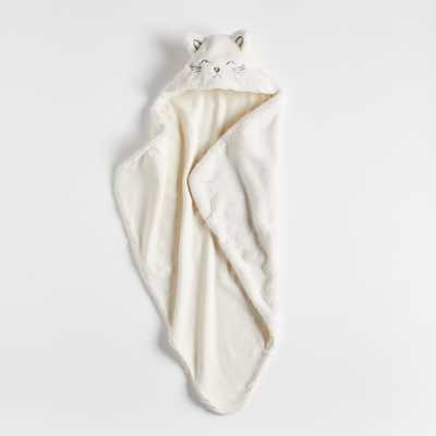 Cat Hooded Baby Blanket - Crate and Barrel