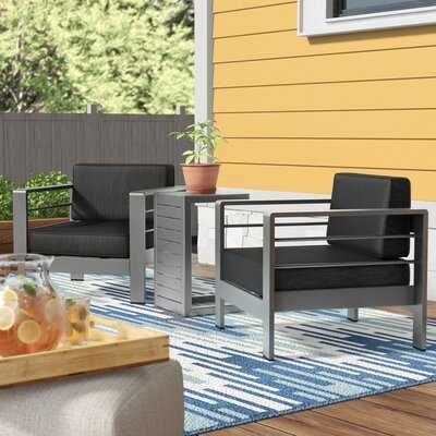 Royalston 3 Piece Seating Group with Cushions - Wayfair