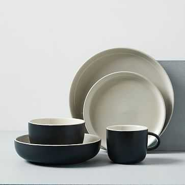 Kaloh Dinnerware, Set of 20, Black - West Elm