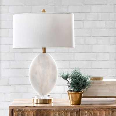 """Fulton 22"""" Marble Table Lamp - Loom 23"""