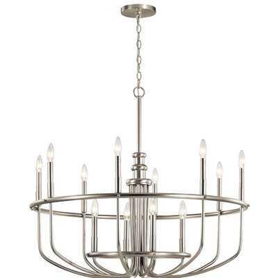 Kuzey 12 - Light Candle Style Wagon Wheel Chandelier - Wayfair