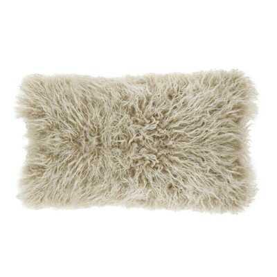 Whipton Mongolian Faux fur Lumbar Pillow - Wayfair