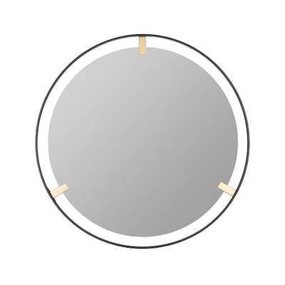 Chandler Wall Mirror, Black & Gold - West Elm