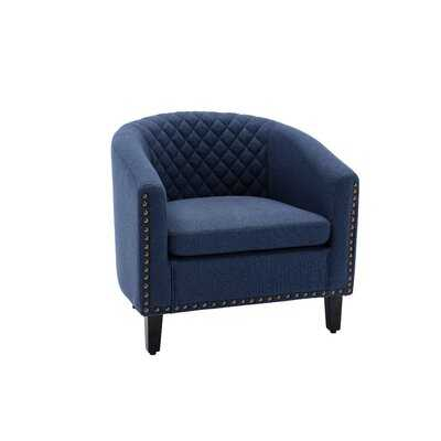 "Garnette 29.13"" W Tufted Barrel Chair - Wayfair"