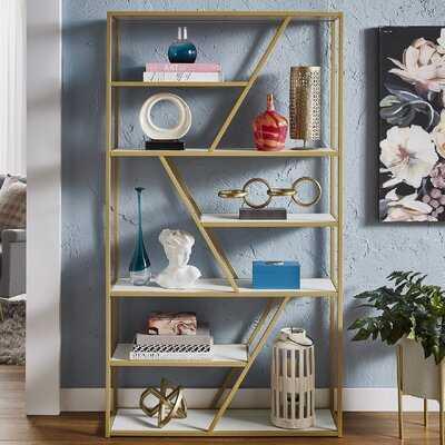 Kennesaw 70.9'' H x 39.4'' W Metal Etagere Bookcase - Wayfair