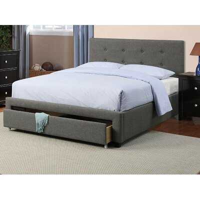 Bobrow Casual Modern Design Upholstered Storage Platform Bed - Wayfair