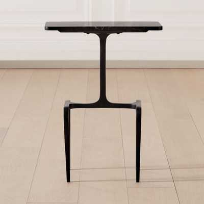 Oxford Black Marble Side Table - CB2