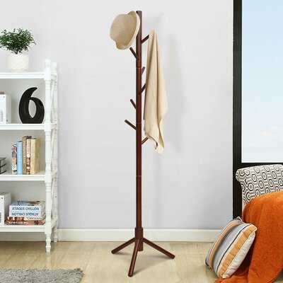 Wilkinson Solid Wood 8 - Hook Freestanding Coat Rack - Wayfair