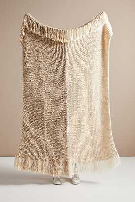 Amber Lewis for Anthropologie Amboy Knit Throw Blanket By Amber Lewis for Anthropologie in Beige - Anthropologie