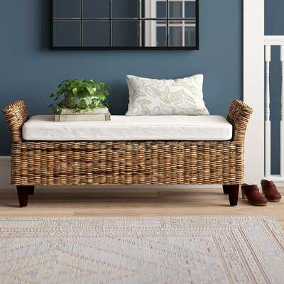 Colbert Wicker Bench - Birch Lane