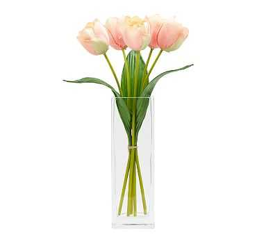 Faux Early Bloom Tulip Bouquet, Coral - Pottery Barn