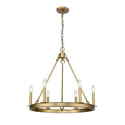 Karolina 6 - Light Candle Style Geometric Chandelier - Wayfair