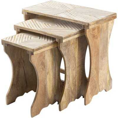 Schulz 3 Piece Nesting Tables - Wayfair