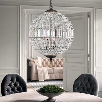 Nazareth 5 - Light Statement Globe Chandelier with Crystal Accents - Wayfair