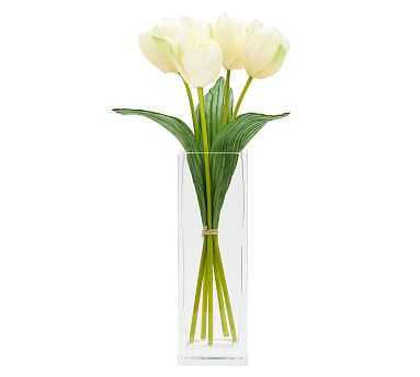 Faux Early Bloom Tulip Bouquet, Yellow - Pottery Barn