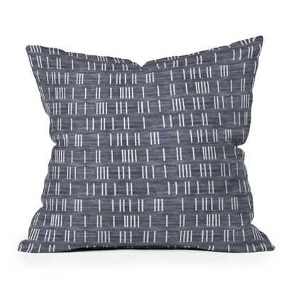"Bogo Denim Mudcloth Light by Holli Zollinger - Outdoor Throw Pillow 26"" x 26"" - Wander Print Co."