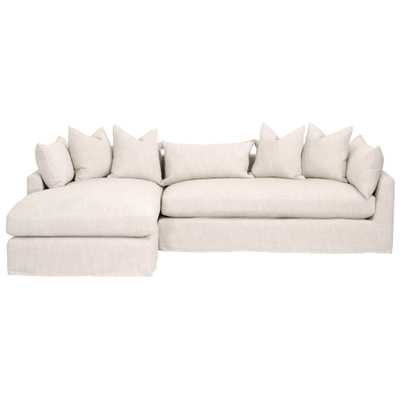 "Haven 110"" LF Lounge Slipcover Sofa - Alder House"